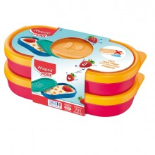 Set 2 Snack box rosa corallo Picnik Concept Maped