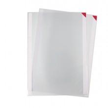Confezione 2 tasche a L con retro adesivo f.to A3 rosse Tarifold