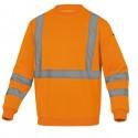 Felpa sportiva Astral alta visibilità Tg. XL arancio fluo