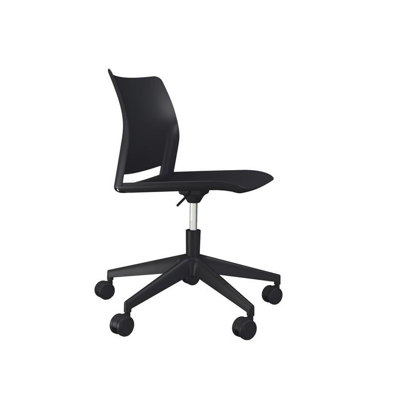 Sedia home/office Alpha GN nero S/braccioli