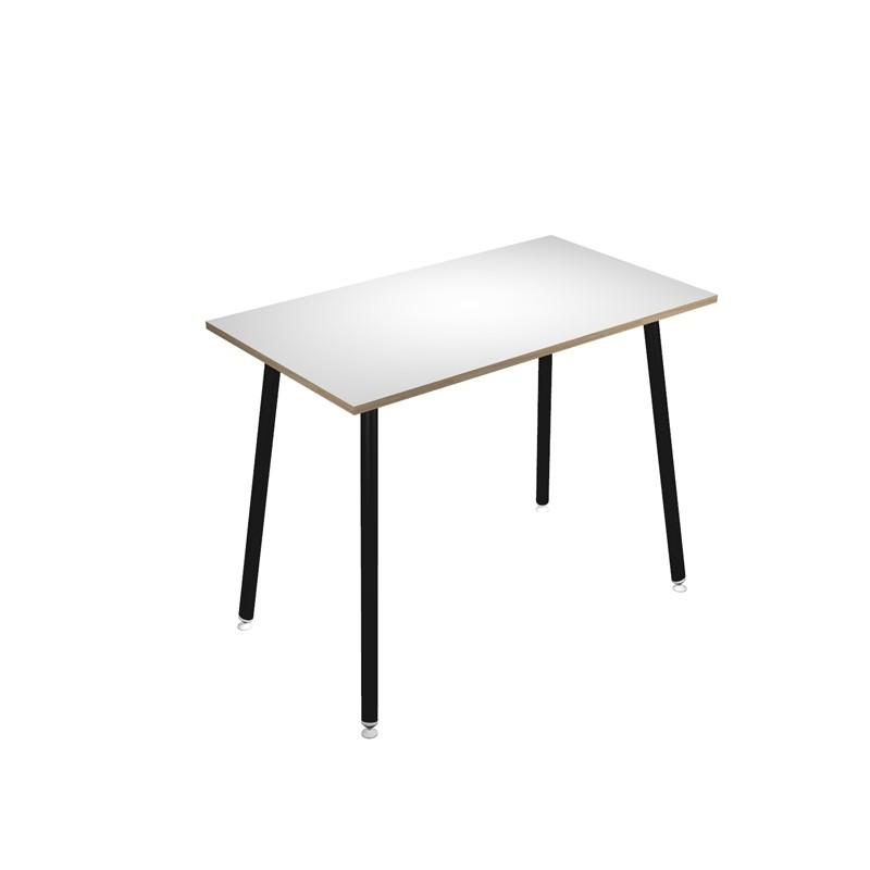 Tavolo alto 140x80xH105cm Nero/ Bianco Skinny Metal