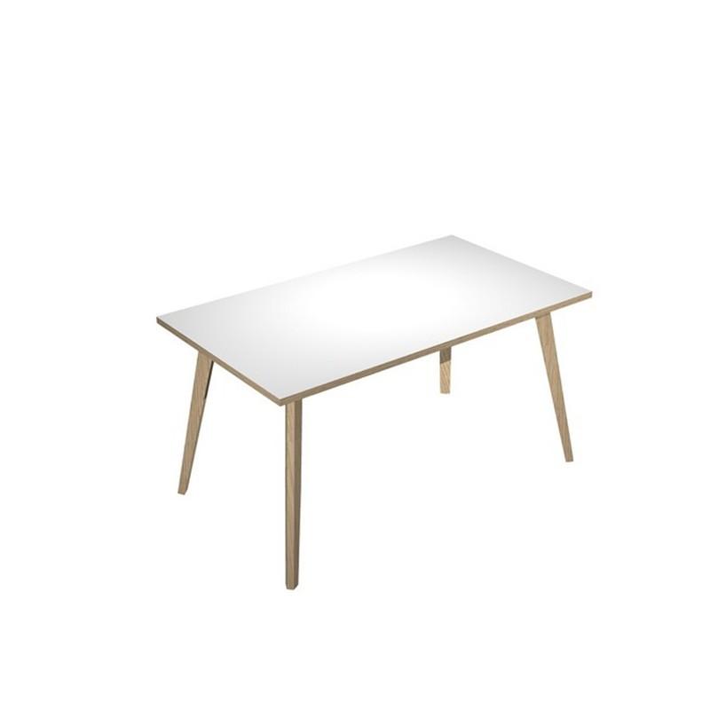 Scrivania 140x80xH74,4cm Rovere/Bianco Woody