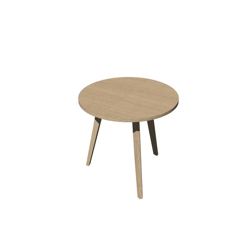 Tavolo riunione tondo Ø80cm Rovere/Rovere Woody
