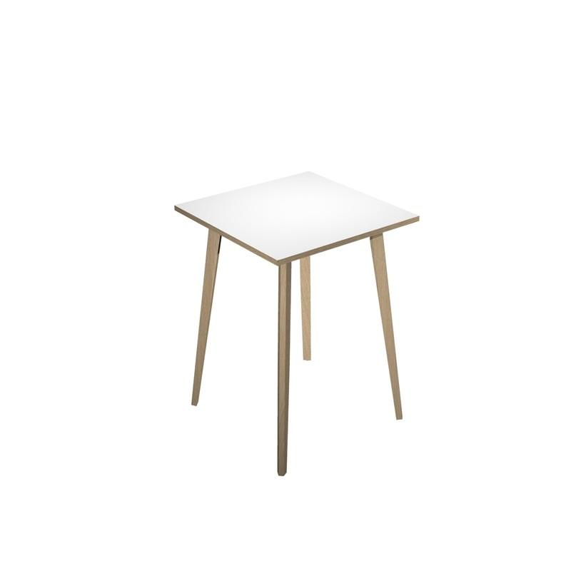 Tavolo alto 80x80xH105cm Rovere/Bianco Woody