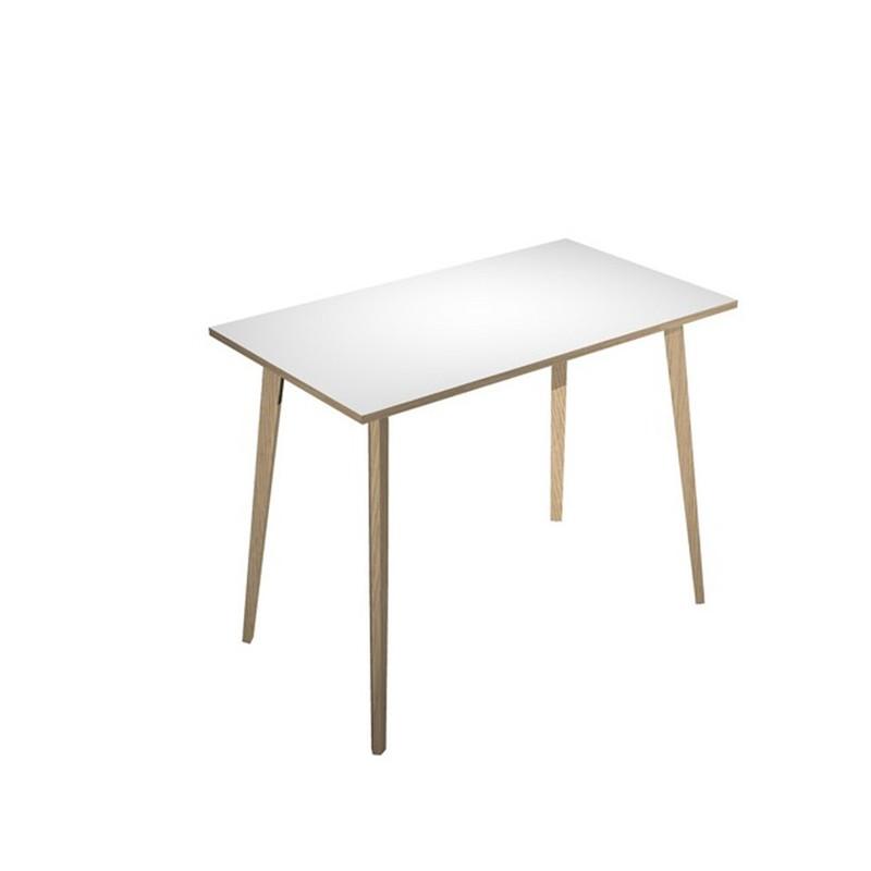 Tavolo alto 120x80xH105cm Rovere/Bianco Woody