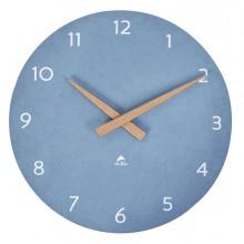Orologio da parete Ø30cm blu chiaro/legno HorMilena Alba