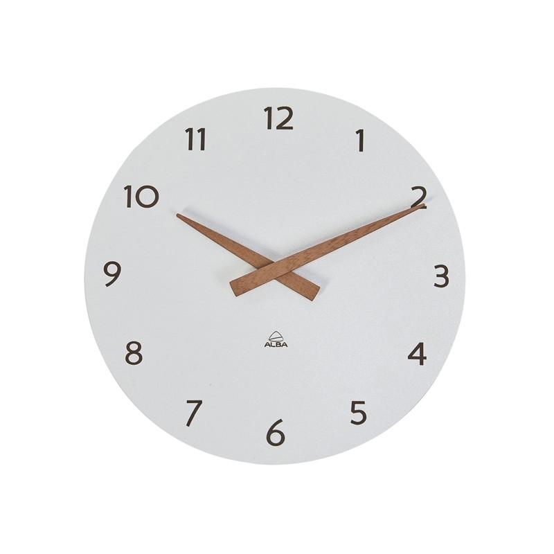 Orologio da parete Ø30cm bianco/legno HorMilena Alba