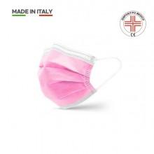 Mascherina chirurgica di Classe II 3 veli Rosa (Conf.10)