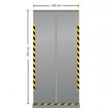 Divisorio roll up trasparente 100x200cm Jalema