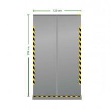 Divisorio roll up trasparente 120x200cm Jalema
