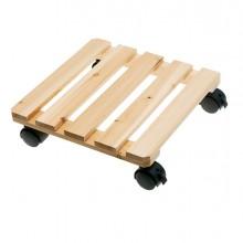 Trolley portavaso in legno 30x30cm