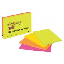 BLOCCO 45foglietti Post-it®Super Sticky 101x152mm MEETING NOTE NEON 6445-SSP (conf. 4 )