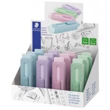 Gomma a scorrimento Staedtler® eraser involucro colori pastello assortiti (Conf. 12)