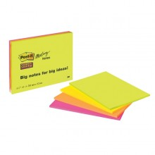 BLOCCO 45foglietti Post-it®Super Sticky 203x152mm MEETING NOTE NEON 6845-SSP (conf. 4 )