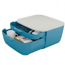 Cassettiera 2 scomparti blu Cosy Leitz