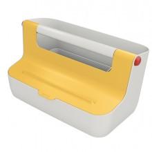 Cassetta portaoggetti con maniglia Giallo Cosy Leitz