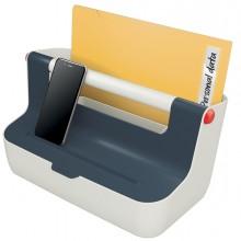 Cassetta portaoggetti con maniglia grigio Cosy Leitz