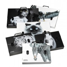 Valigetta polionda Animal Friends 38x53 dorso 5cm fantasie assortite RI.PLAST