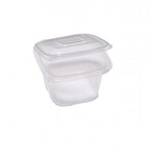 Pack 50 contenitori in PP coperchio incernierato 12x12cm H7,5cm Cuki QC0-500