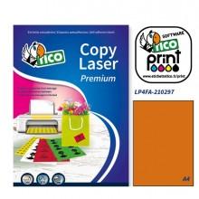 Etichetta Adesiva Lp4F Arancio Fluo 70Fg A4 210X297Mm (1Et/Fg) Tico