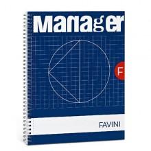 Blocco Spiral Manager 23X29,7Cm 10Mm 90Fg 80Gr 4Fori Microperforato Favini (conf.5)
