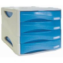 Cassettiera 4 Cass. Smile Azzurro Trasp. Arda