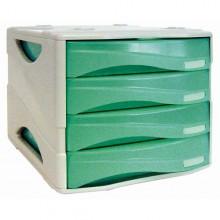 Cassettiera 4 Cass. Smile Verde Trasp. Arda