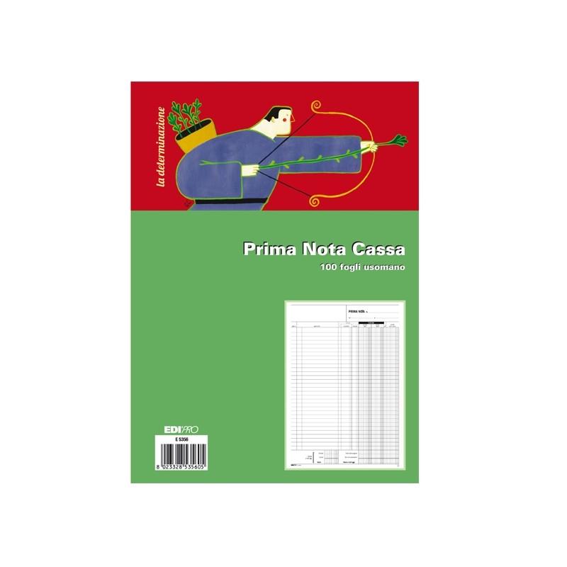 Blocco Prima Nota Cassa 31X21Cm 100Fg Uso Mano E5356