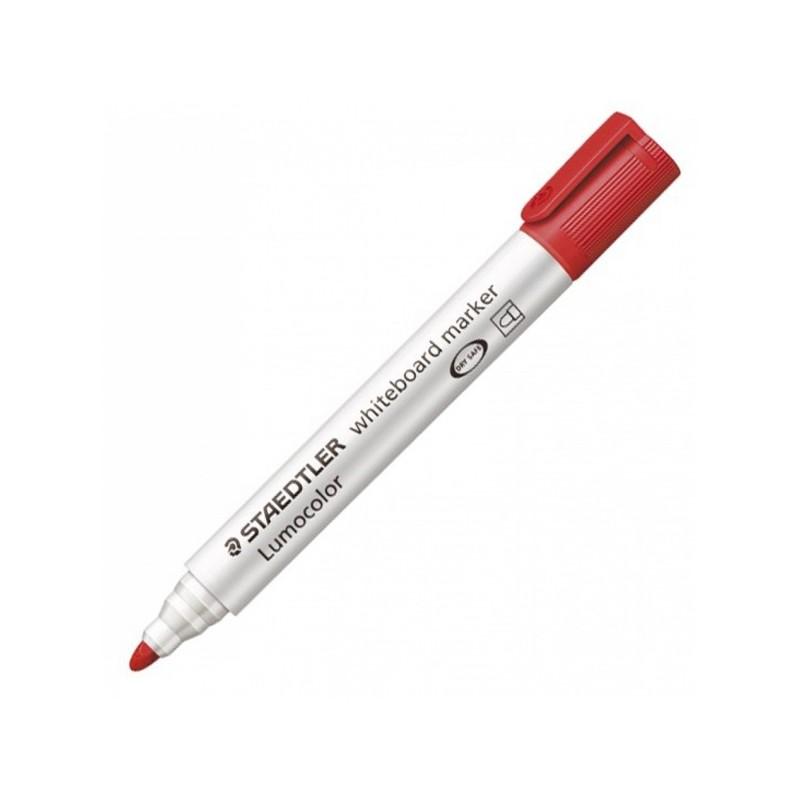 Pennarello Lumocolor 351 Rosso P.Tonda Per Lavagne Cancellabili
