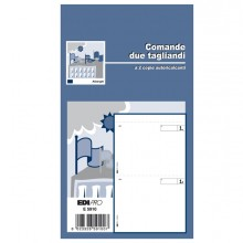 BLOCCO COMANDE A 2 TAGLIANDI 25/25 FOGLI AUTORIC. 17X9,9 E5910 (conf. 20 )