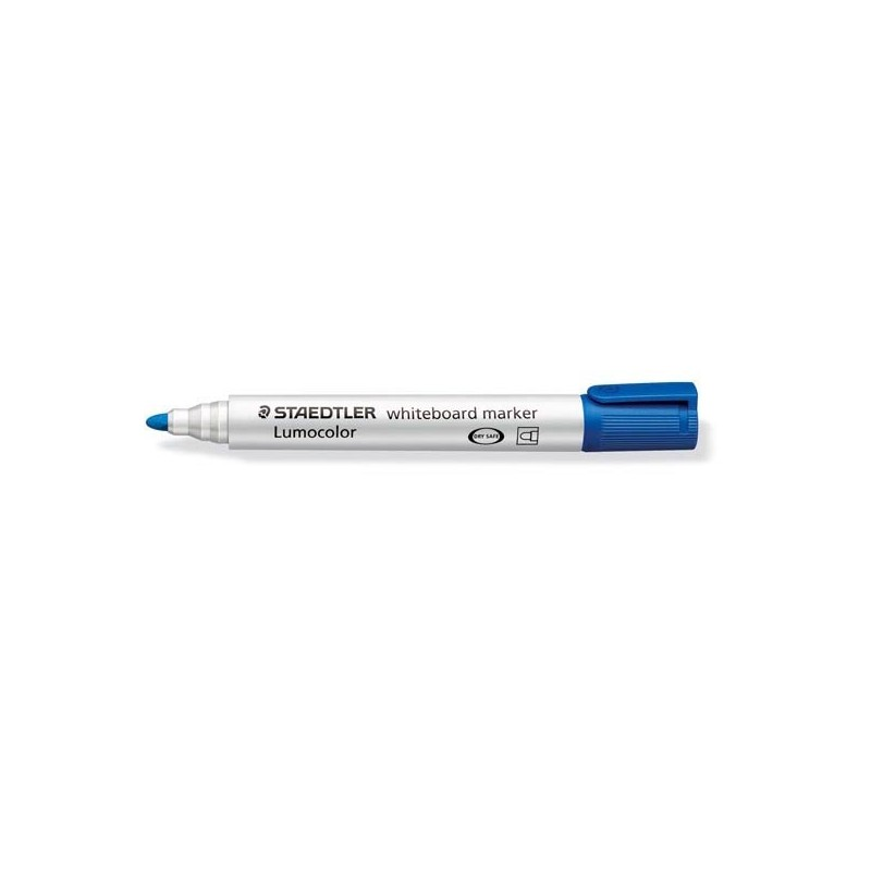 Pennarello Lumocolor 351 Blu P.Tonda Per Lavagne Cancellabili