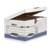 SCATOLA ARCHIVIO C/COPERCHIO A RIBALTA BANKERS BOX SYSTEM (conf. 10 )
