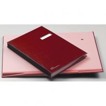Libro Firma 14 Pagine 24X34Cm Rosso 614-A Fraschini