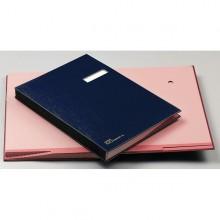 Libro Firma C/Portaetichetta 18 Pagine 24X34Cm Blu 618-D Fraschini