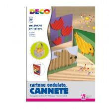 10Fg Cartoncino Ondulato 50X70Cm Avana Art 2206/5 Cwr