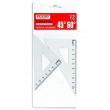 Coppia Squadra Profil Alluminio 12Cm 45° 60° Arda