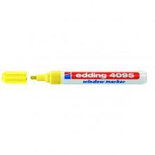 Marcatore Edding 4095 Punta Conica Gesso Liquido Giallo Fluo
