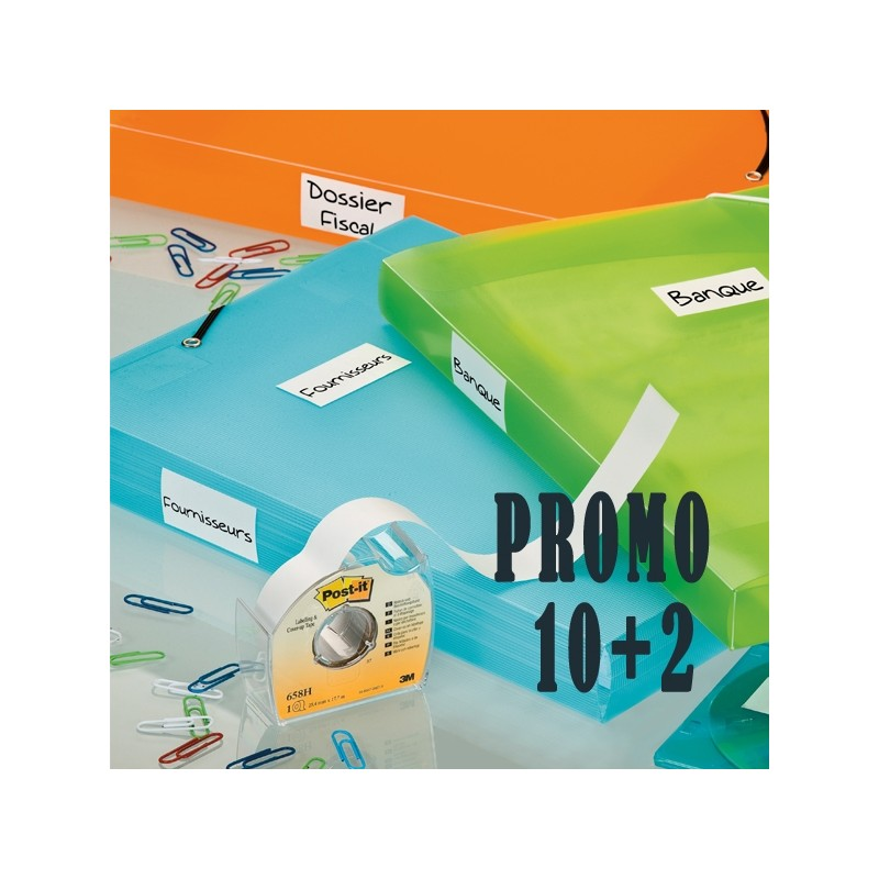 Promo Pack 10+2 Post-It Cover-Up 658-H 25Mmx17,7M