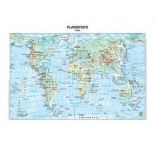Carta Geografica Scolastica Plastificata Mondo 297X420Mm Belletti (conf.20)