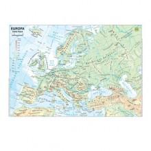 CARTA GEOGRAFICA SCOLASTICA PLASTIFICATA EUROPA 297X420MM BELLETTI (conf. 20 )