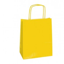 25 SHOPPERS CARTA KRAFT 22X10X29CM TWISTED GIALLO