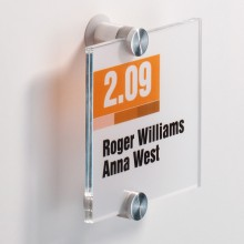 Targa Per Porte/Pareti Crystal Sign 105X105Mm Durable