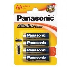Blister 4 Pile Stilo Alkaline Aa 1,5V Panasonic