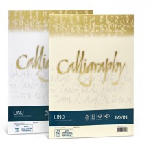 Carta Calligraphy Lino 120Gr A4 50Fg Avorio 02 Favini