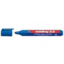 Marcatore Edding 33 Permanente Punta Scalpello Blu