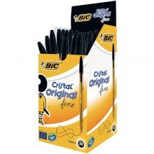 Scatola 50 Penna Sfera Cristal Fine 0,8Mm Nero Bic