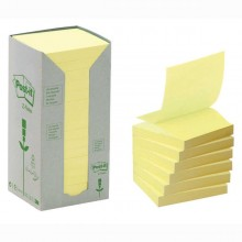 BLOCCO 100foglietti Post-it®Z-Notes Green 76x76mm R330-1T GIALLO RICICL.100 (conf. 16 )