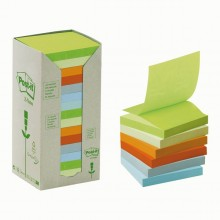BLOCCO 100foglietti Post-it®Z-Notes Green 76x76mm R330-1RPT NATURAL 100 (conf. 16 )