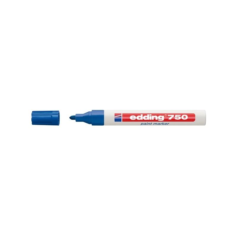 Marcatore Edding 750 Punta Media Vernice Blu