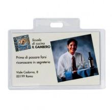 100 Portanome Pass 3R 9,5X6Cm Senza Clip Sei Rota